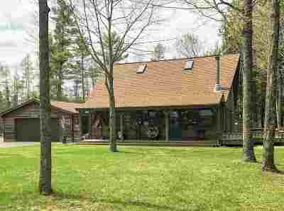 Oconto County Single Family Home Active-No Offer: 12631 E McComb Lake