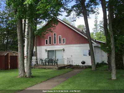 Shawano Single Family Home Active-No Offer: N6104 Cattau Beach