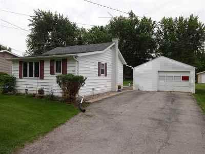Winneconne Single Family Home Active-Offer No Bump: 627 Birch