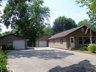 Shawano Single Family Home Active-No Offer: N5991 Lake
