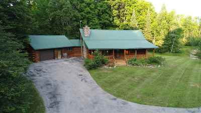 Marinette County Single Family Home Active-No Offer: W4387 Panske