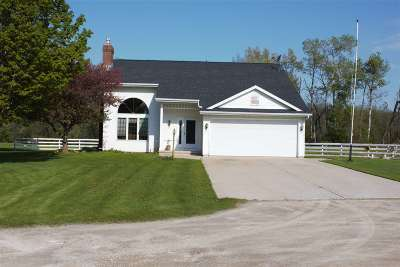 Kaukauna Single Family Home Active-No Offer: W180 Hwy 96