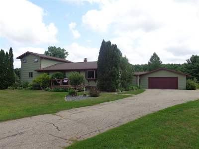 Shawano County Single Family Home Active-No Offer: W7251 Belle Plaine