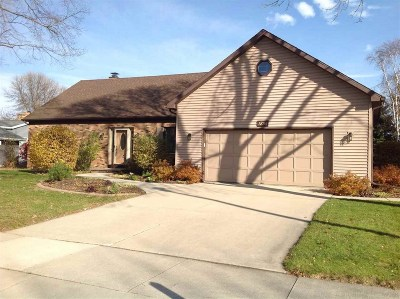 Oshkosh Single Family Home Active-No Offer: 1854 Cliffview
