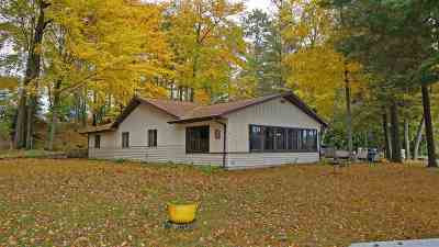 Shawano County Single Family Home Active-No Offer: W8065 Long Lake