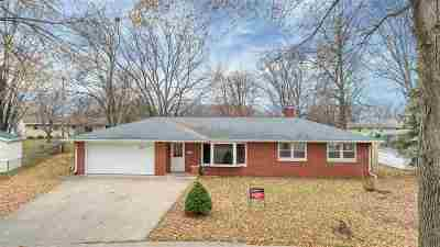 Green Bay Single Family Home Active-No Offer: 1743 Chateau