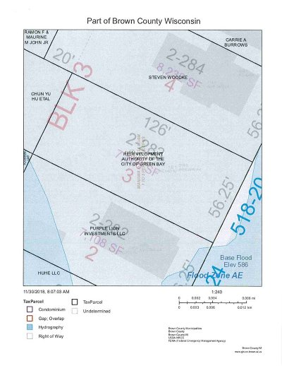 Green Bay Residential Lots & Land Active-No Offer: 518 S Ashland