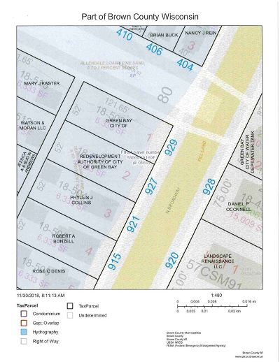 Green Bay Residential Lots & Land Active-No Offer: 929 N Broadway