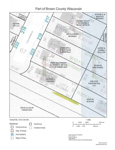 Green Bay Residential Lots & Land Active-No Offer: 223 S Buchanan