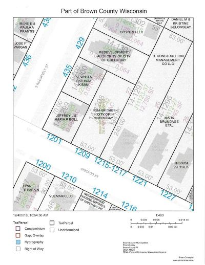Green Bay Residential Lots & Land Active-No Offer: 1209 Chicago