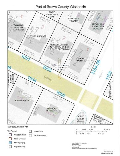 Green Bay Residential Lots & Land Active-No Offer: 1655 Debra