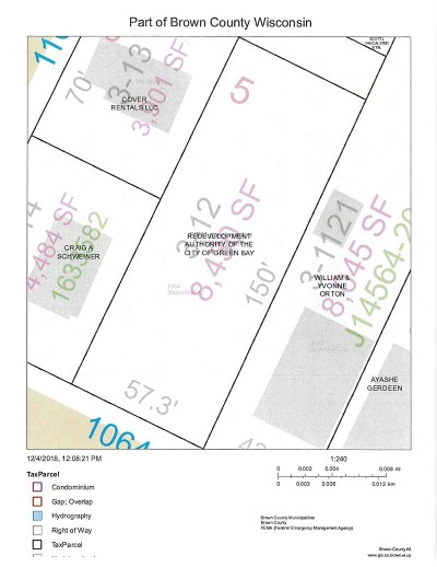 Green Bay Residential Lots & Land Active-No Offer: 1064 Shawano
