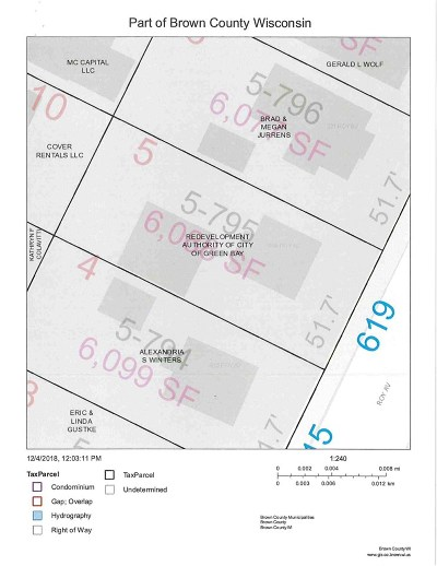 Green Bay Residential Lots & Land Active-No Offer: 619 Roy
