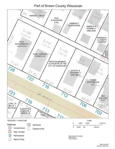Green Bay Residential Lots & Land Active-No Offer: 716 Mather