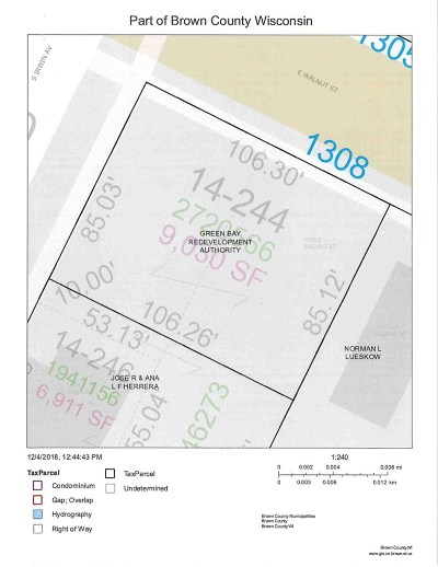 Green Bay Residential Lots & Land Active-No Offer: 1308 E Walnut