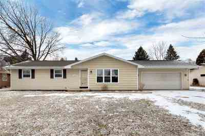 Menasha Single Family Home Active-No Offer: 1386 Racine
