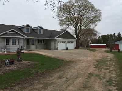 Pound Single Family Home Active-No Offer: 10220 Brazeau Town Hall
