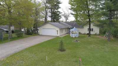Shawano County Single Family Home Active-No Offer: W8091 Long Lake