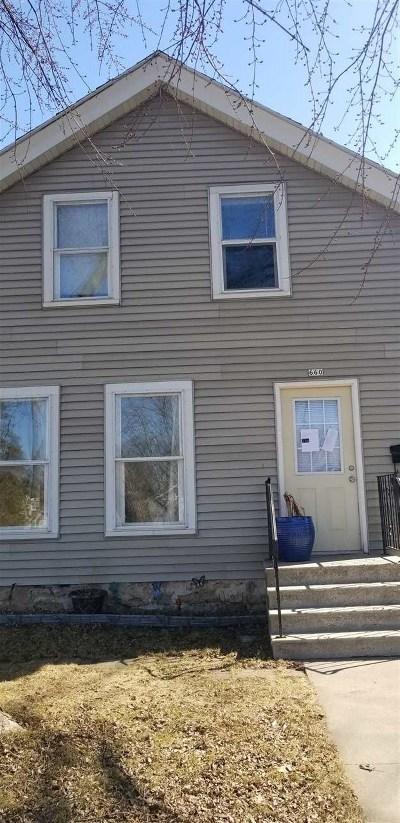 Oshkosh Multi Family Home Active-No Offer: 660 Broad