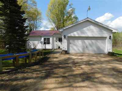 Shawano County Single Family Home Active-No Offer: W11084 Upper Red Lake