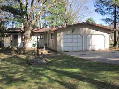 Shawano Single Family Home Active-No Offer: W7136 Campfire