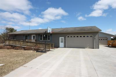 Waupaca Single Family Home Active-No Offer: N1566 Hwy 22