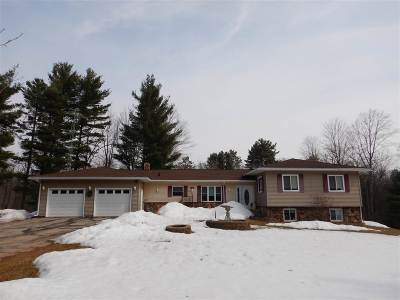 Marinette County Single Family Home Active-No Offer: W6498 Hwy 180