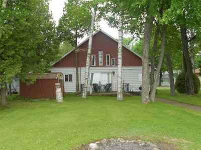 Shawano Single Family Home Active-Offer No Bump: N6104 Cattau Beach