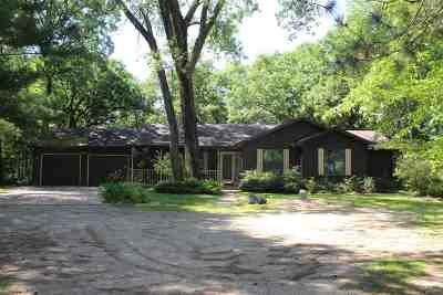 Waupaca Single Family Home Active-No Offer: W5019 Lakewood