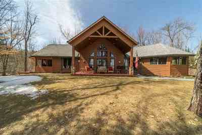 Marinette County Single Family Home Active-No Offer: W6009 Lake