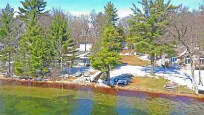 Waupaca Single Family Home Active-No Offer: E1633 North Sunset Lake
