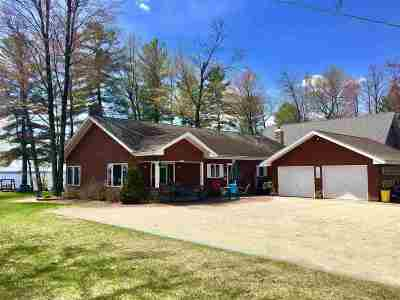 Shawano County Single Family Home Active-Offer No Bump: W5941 Lake