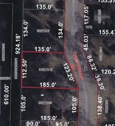 Oshkosh Residential Lots & Land Active-No Offer: Crestwood