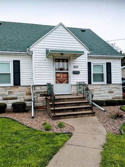 Menasha Single Family Home Active-No Offer: 407 7th