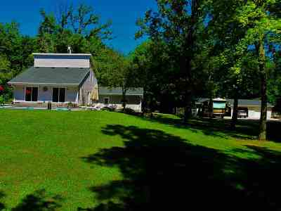Shawano County Single Family Home Active-No Offer: 8760 W Cloverleaf Lake