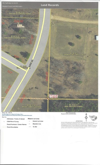 Waupaca Residential Lots & Land Active-No Offer: Dawn