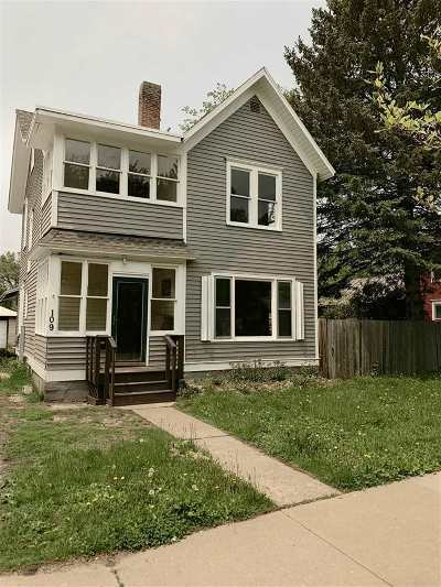 Waupaca Single Family Home Active-No Offer: 109 N State