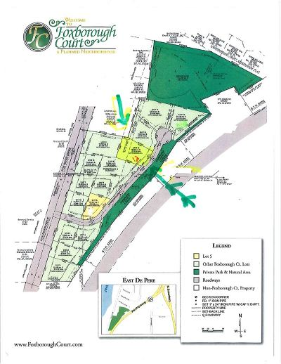 De Pere Residential Lots & Land Active-No Offer: 1466 Foxborough