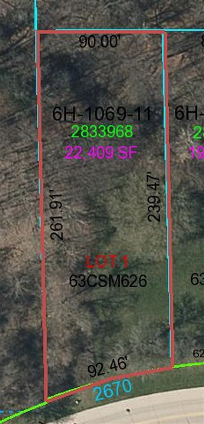 Green Bay Residential Lots & Land Active-No Offer: 2670 Indian Hill