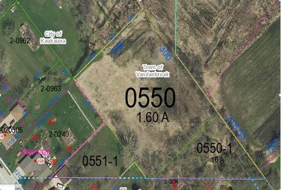 Kaukauna Residential Lots & Land Active-No Offer: Claribel