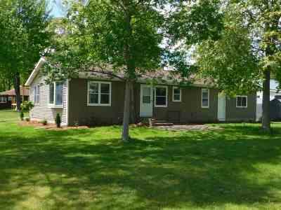 Shawano County Single Family Home Active-No Offer: W6009 Lake