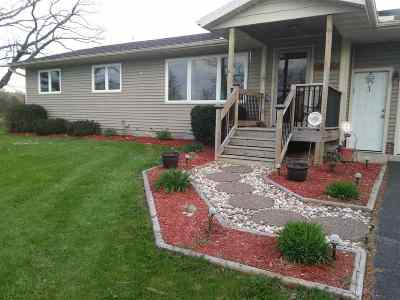 Pardeeville Single Family Home For Sale: W6599 County Road P