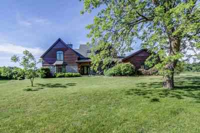 Mount Horeb Single Family Home For Sale: 4675 County Road J