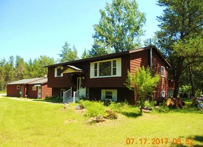 Single Family Home For Sale: W4887 Sawyer Rd