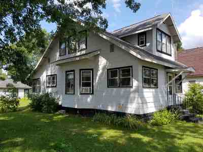 Adams WI Single Family Home For Sale: $76,900