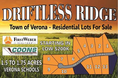 Verona Residential Lots & Land For Sale: L10 Driftless Ridge Way