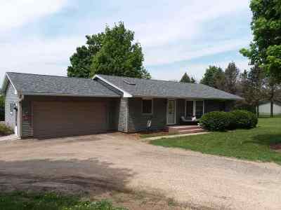 Green County Single Family Home For Sale: N1649 County Road K