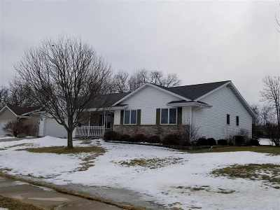 Edgerton Single Family Home For Sale: 1081 Hain Rd