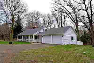 Green County Single Family Home For Sale: W8304 Nursery Rd