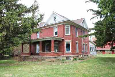 Green County Single Family Home For Sale: N3205 County Road N